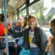 Jeunes de 11 ans dans un bus du réseau STAR Rennes Métropole