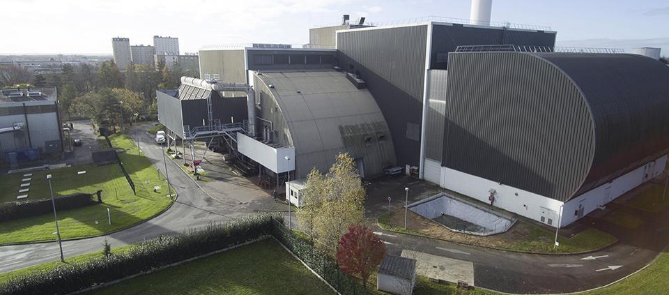 Photo de l'Unité de valorisation énergétique (UVE) de Rennes.