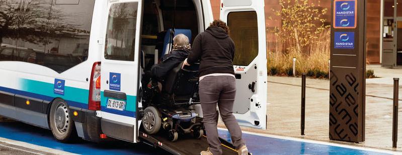 Handistar, service de transports pour les personnes à mobilité réduite (photo de Karine Nicolleau).