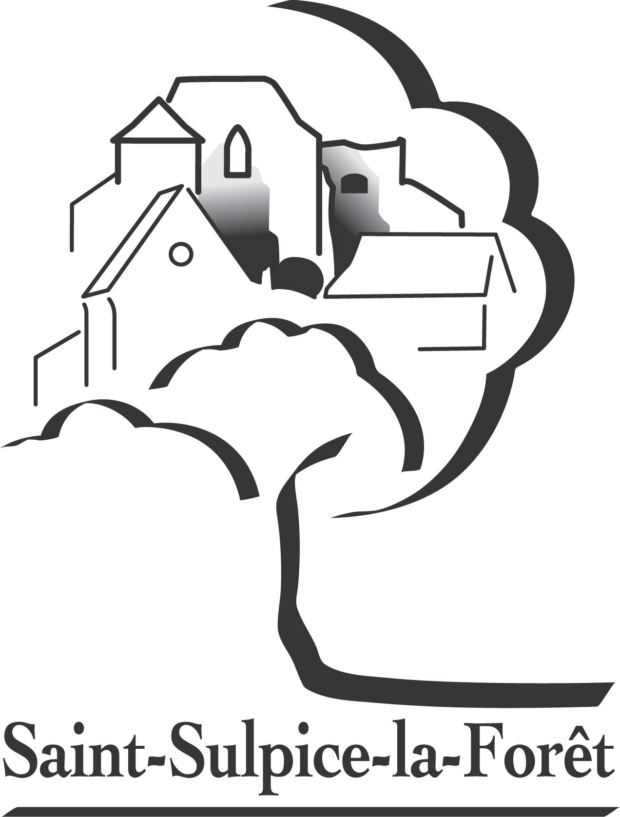 Logo de Saint-Sulpice-la-Forêt (noir).